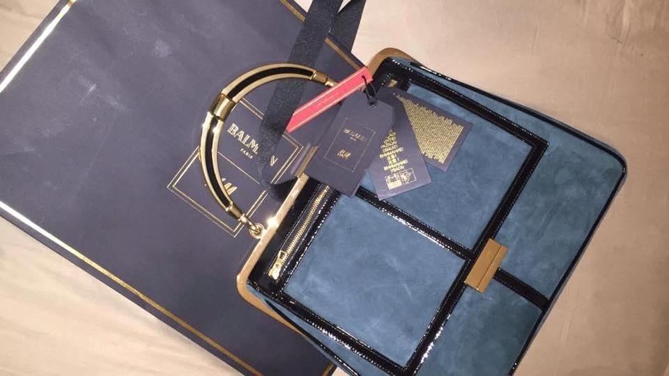 collezione balamin H&M Roma bag verde petrolio
