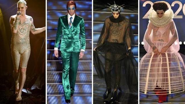 Sanremo 2020, tutti i look di Achille Lauro